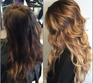 снятие цвета волос